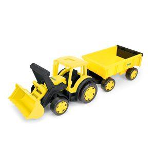 Gigant Traktor spychacz budowlany z przyczepą