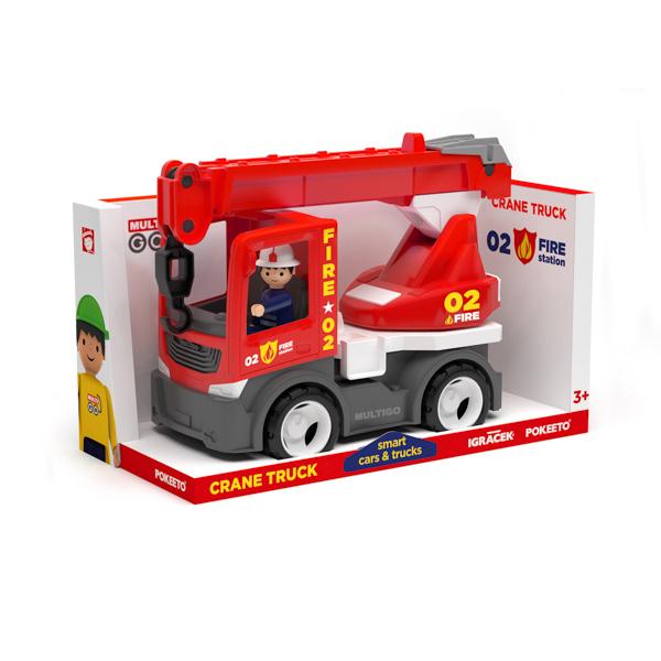 Multigo Fire dźwig ze strażakiem