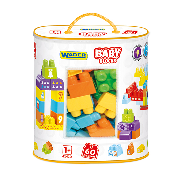 Klocki Baby Blocks torba 60 szt.