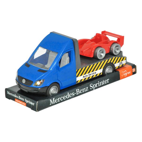 Mercedes-Benz Sprinter laweta niebieska
