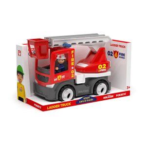 Multigo Fire ciężarówka z drabiną ze strażakiem