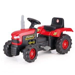 Traktor na pedały w kartonie