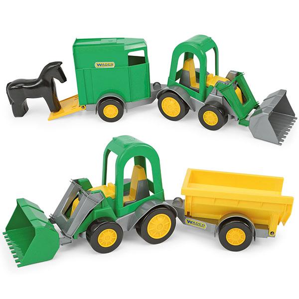 Traktor ładowarka Farmer z przyczepą w kartonie