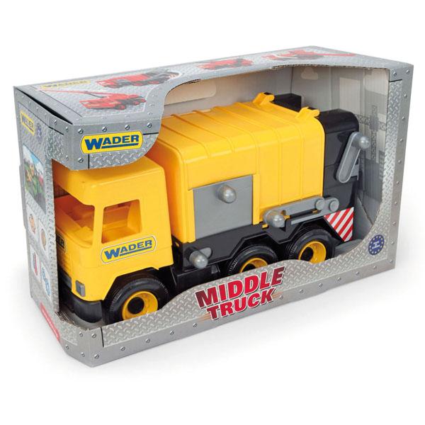 Middle Truck śmieciarka yellow w kartonie