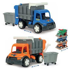 Gigant śmieciarka orange/blue