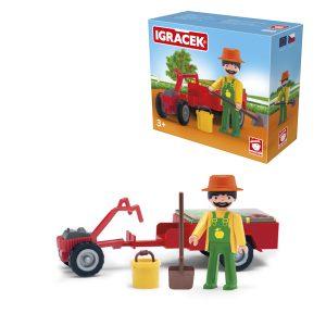 Igracek ogrodnik, mini traktor i akcesoria – duży zestaw