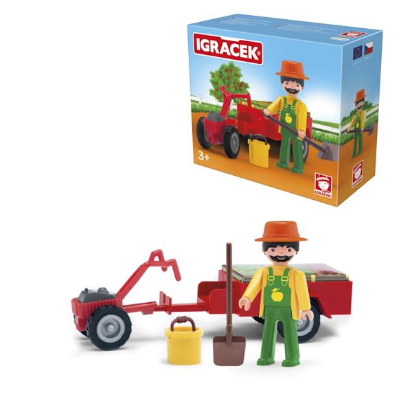Igracek ogrodnik, mini traktor i akcesoria - duży zestaw