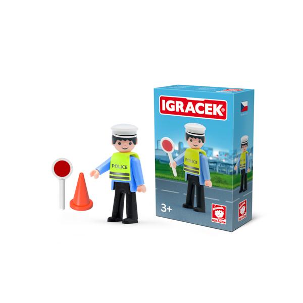 Igracek policjant drogowy i akcesoria