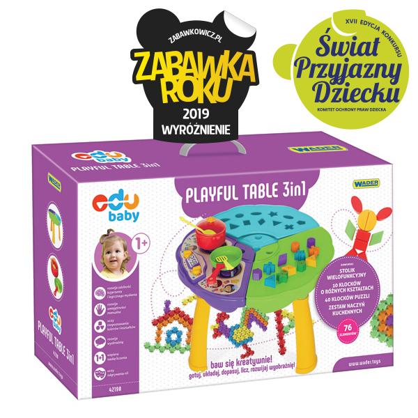 Stolik edukacyjny Playful Table 3 w 1