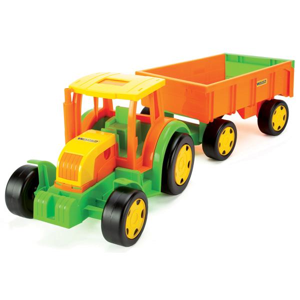 Gigant Traktor z przyczepą w siatce