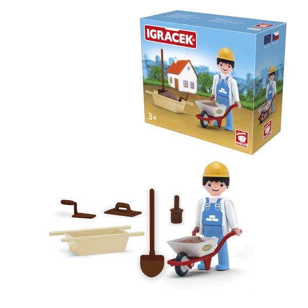 Igracek murarz i akcesoria - duży zestaw